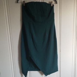 Strapless Dress with Thigh slit